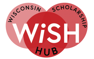 Wisconsin Scholarship Logo with three red circles connecting