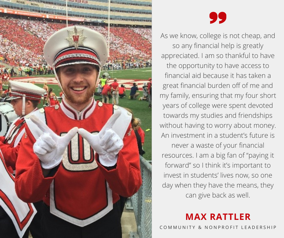 Max Rattler with Scholarship Quote
