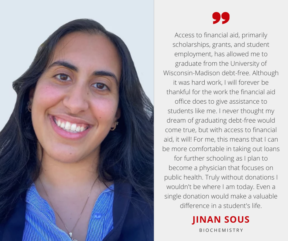 Jinan Sous with Scholarship Quote